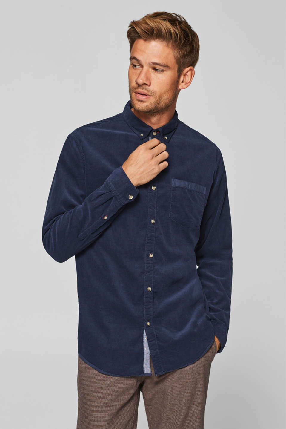 edc - Corduroy shirt in 100% cotton
