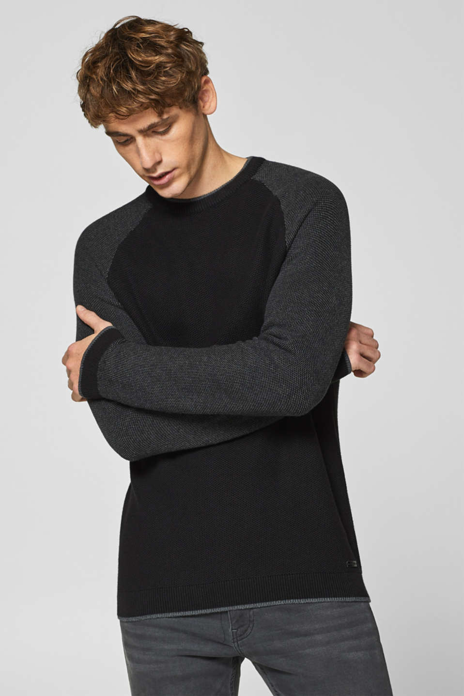 edc - Textured jumper in blended cotton