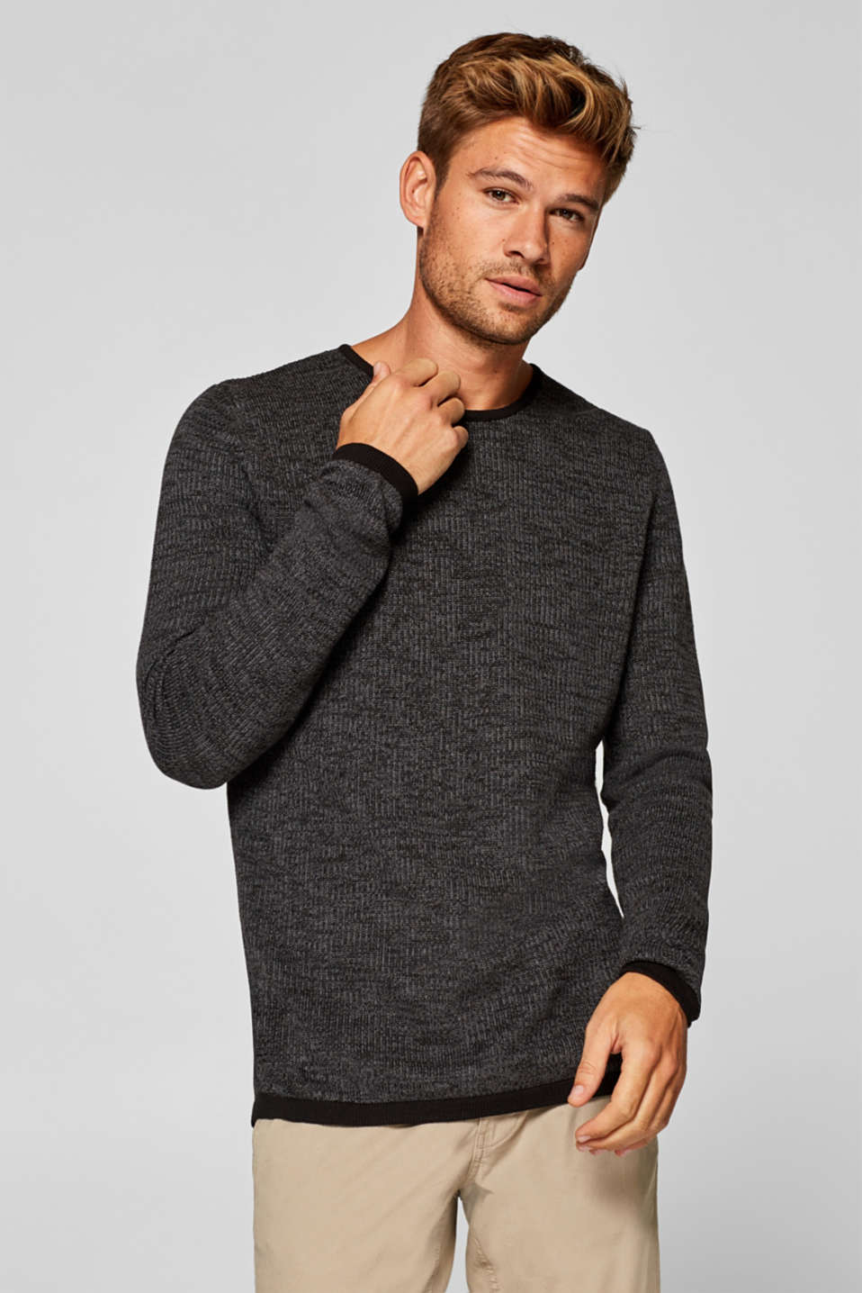 edc - Knitted jumper made of 100% cotton