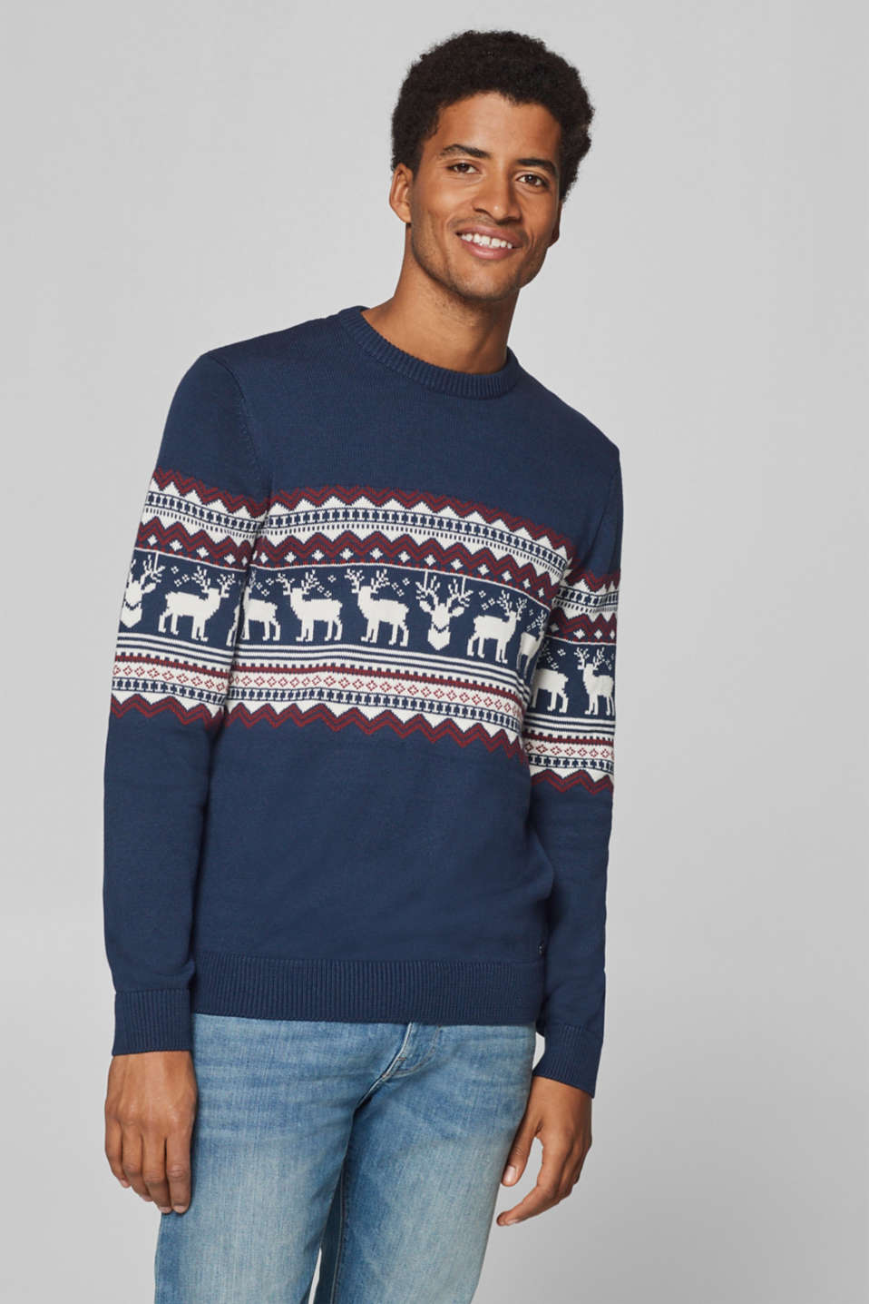 edc - Jumper with Fair Isle pattern