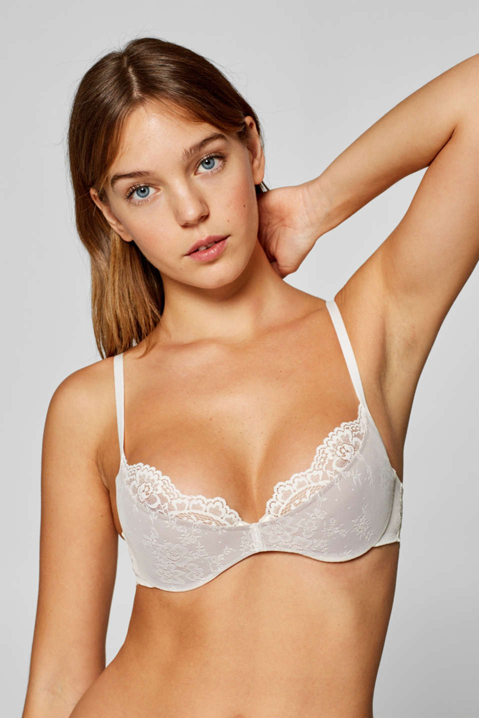edc - Half-padded underwire bra with two types of lace