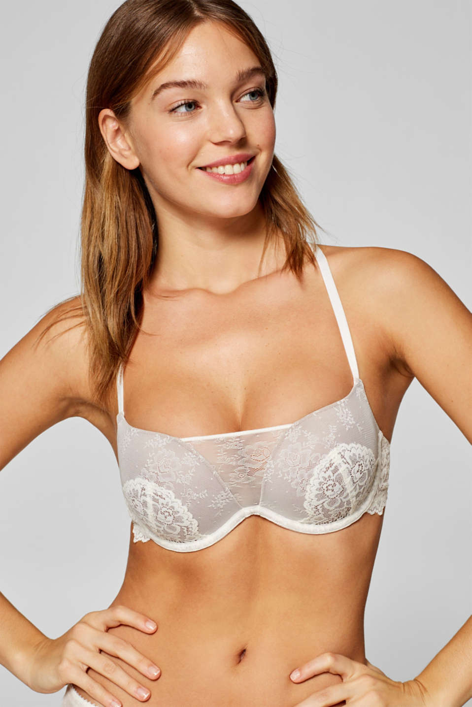 edc - Push-up bra in two kinds of lace