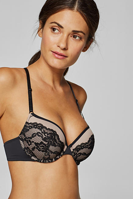 9e06199b7d Padded underwire bra with lace decorations