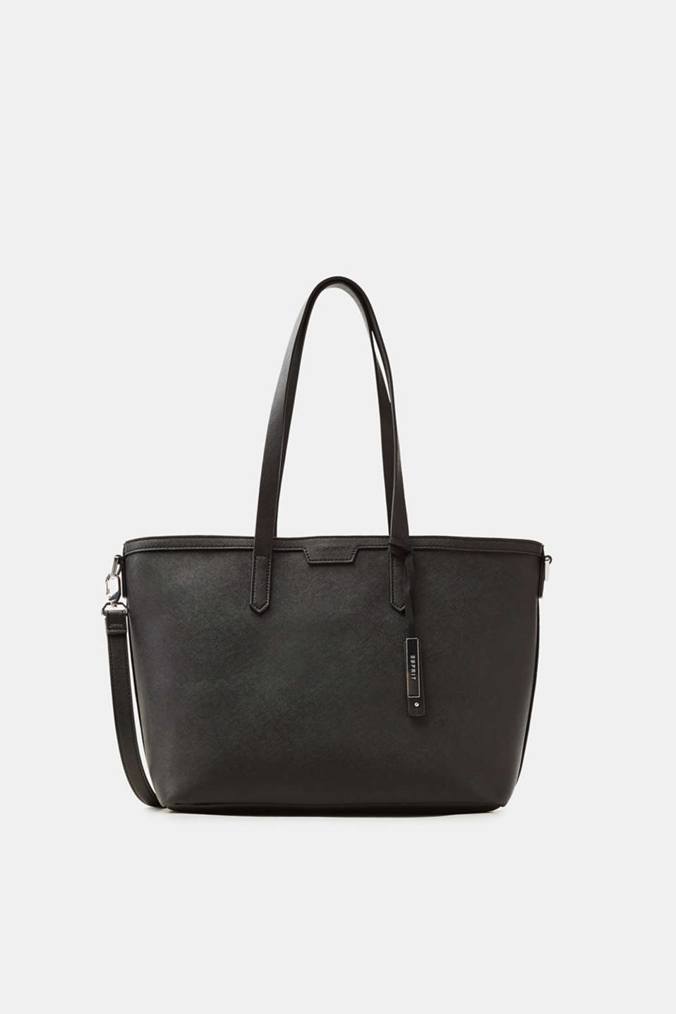 Esprit - Tote bag in textured faux leather