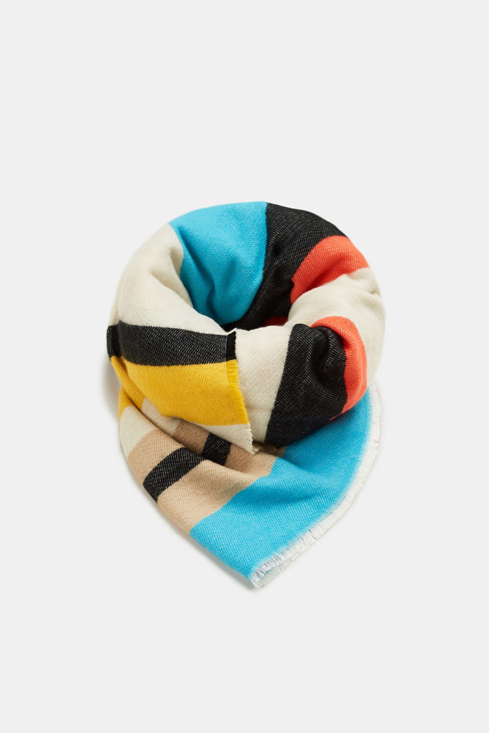 Esprit - Oversized scarf with vibrant stripes