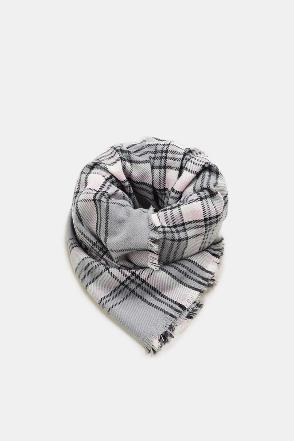 Esprit - Scarf with a check pattern and stripes