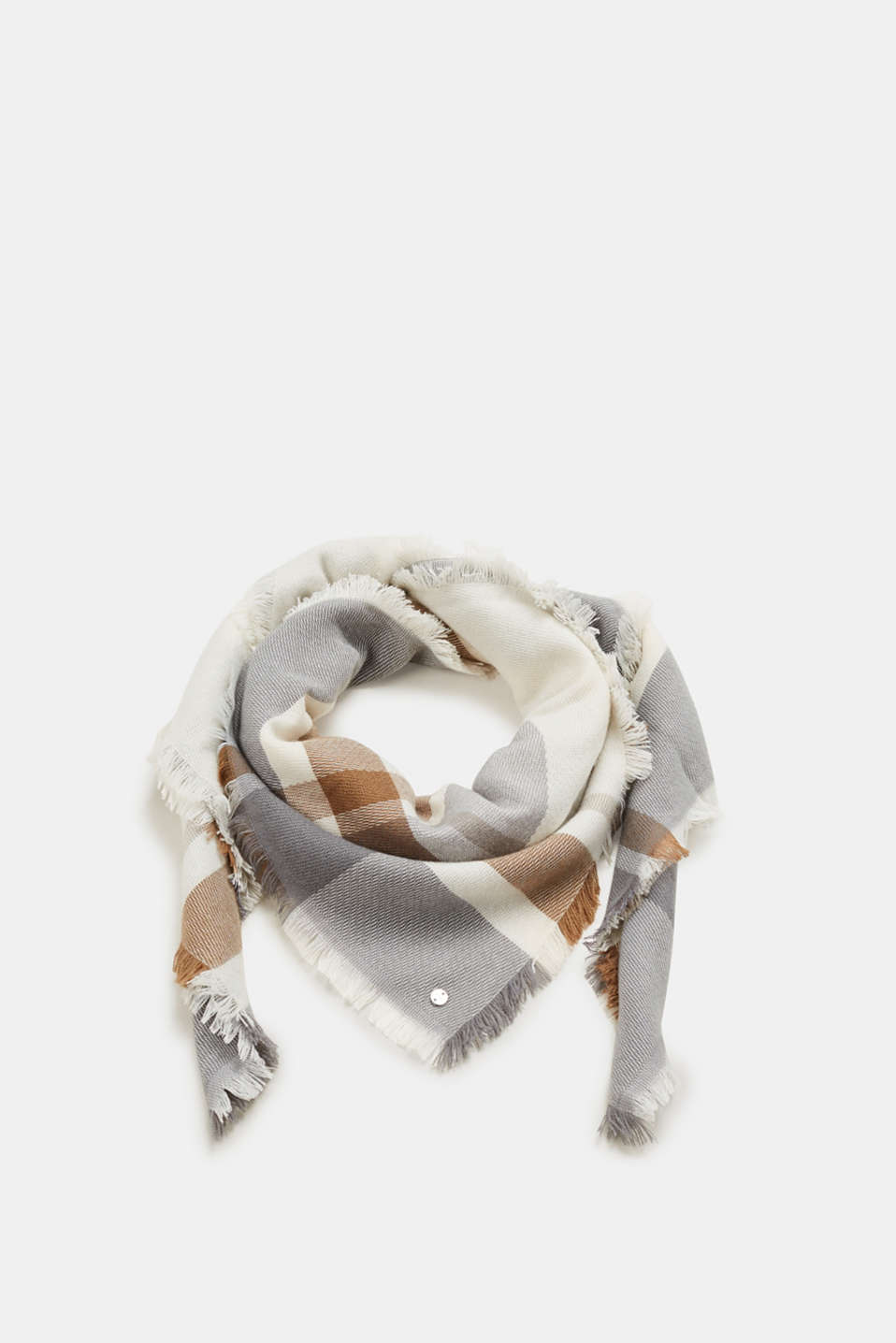 Esprit - Fringed check scarf