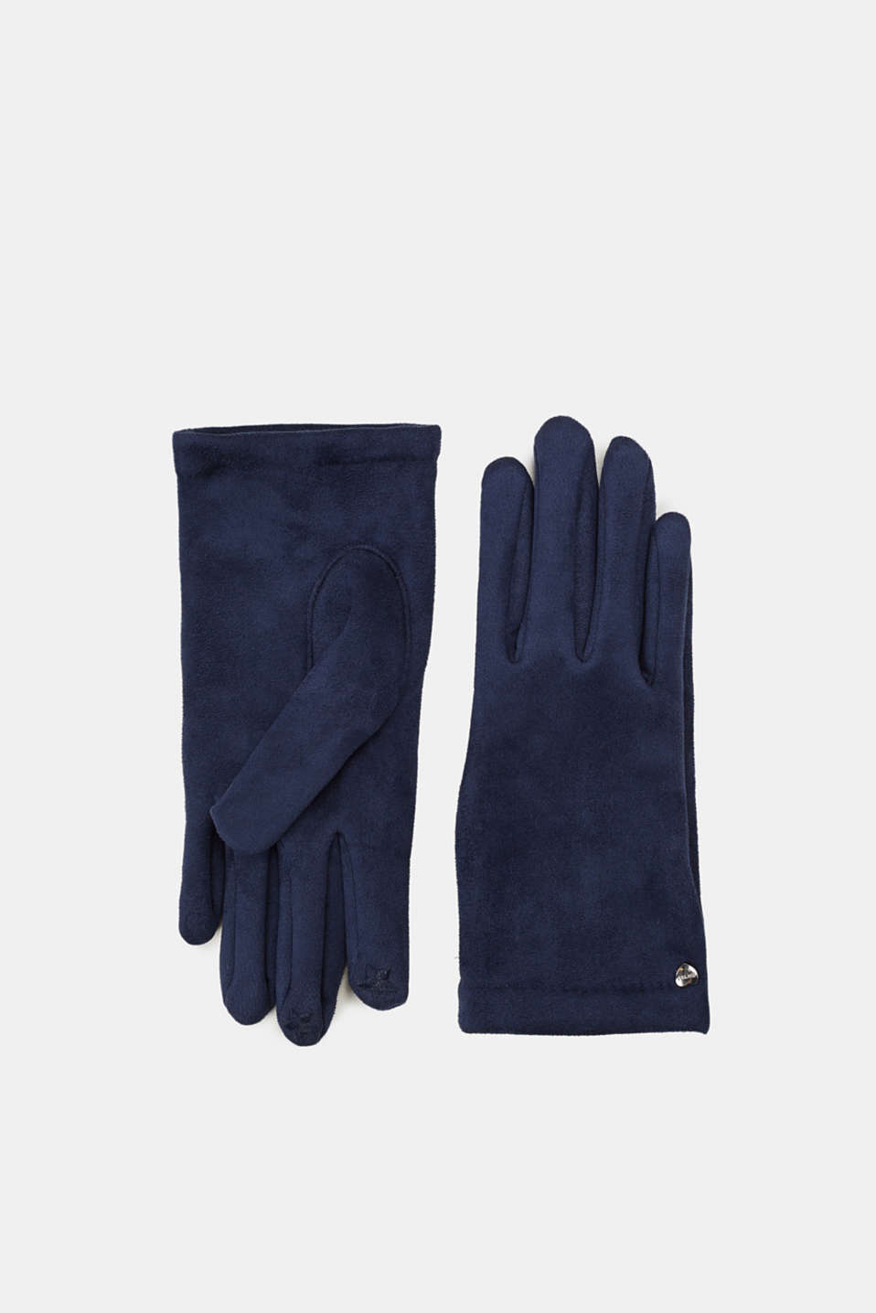 Esprit - Suede gloves with fleece lining