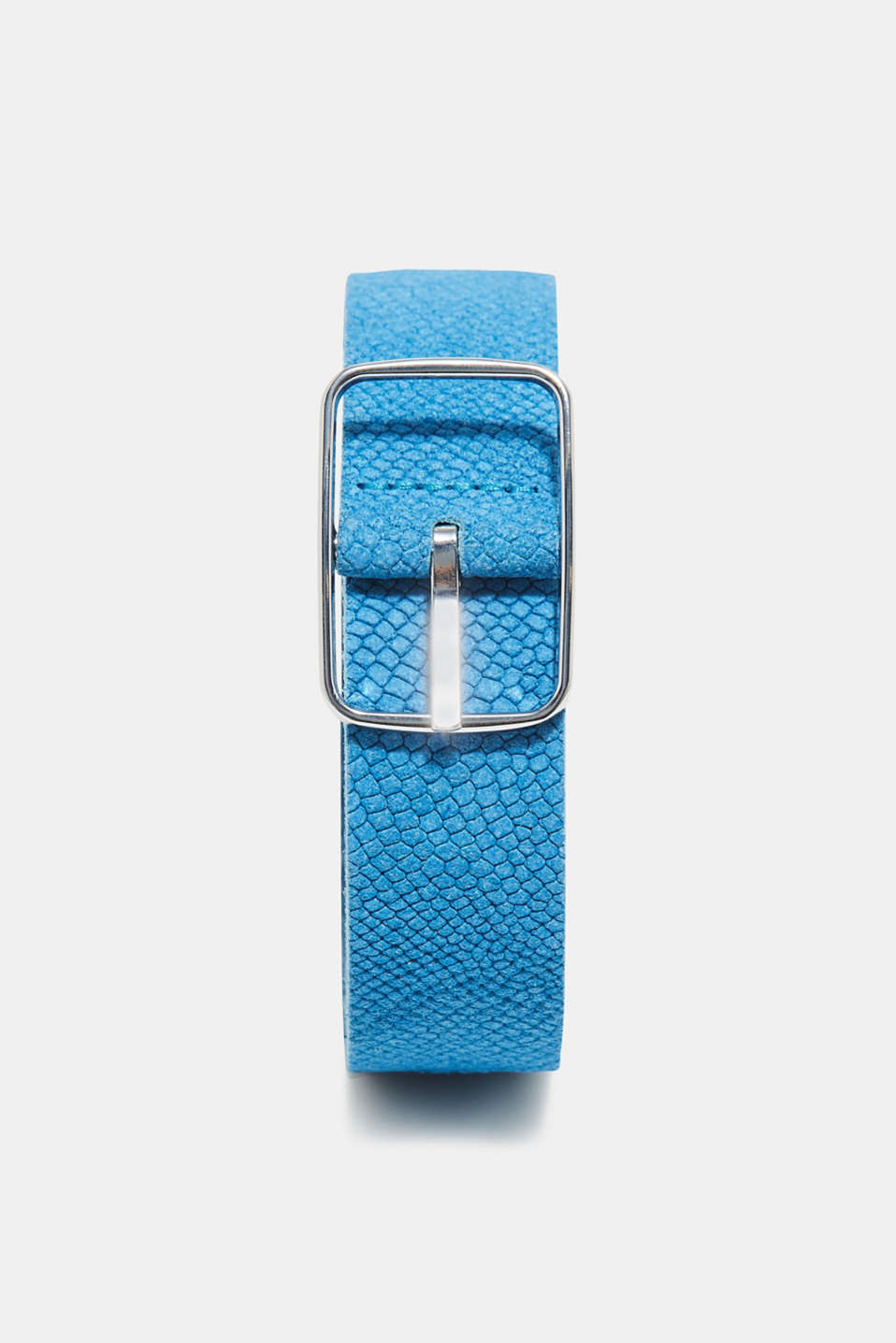 Esprit - Leather belt with snakeskin embossing