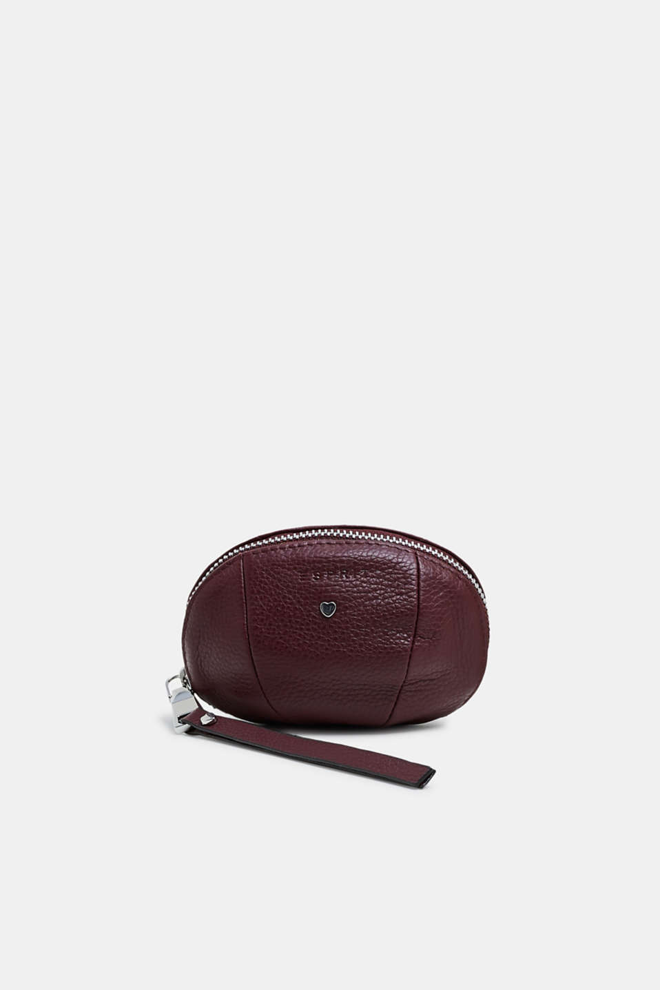 Esprit - Small leather zip pouch