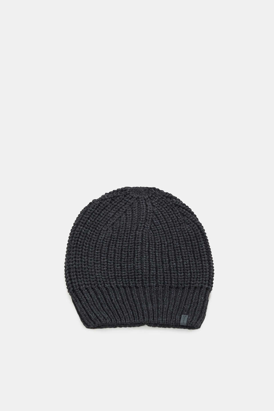 Esprit - Hat with rib knit texture