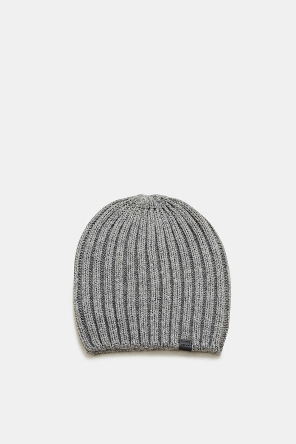 Esprit - With wool: rib knit hat