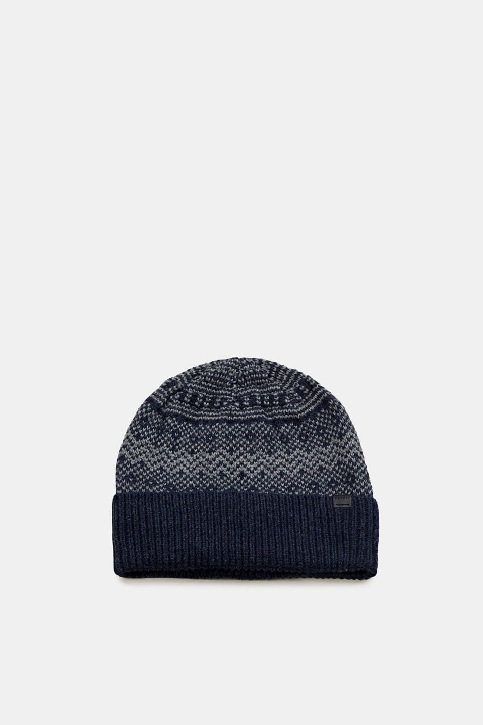 Esprit - Hat with a Norwegian pattern