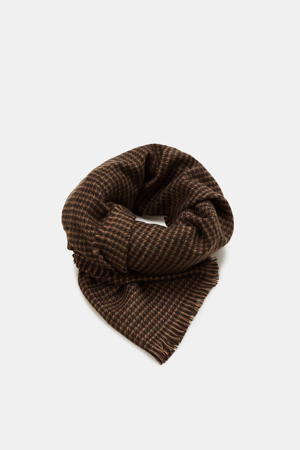 Esprit - Woven scarf with a checked pattern