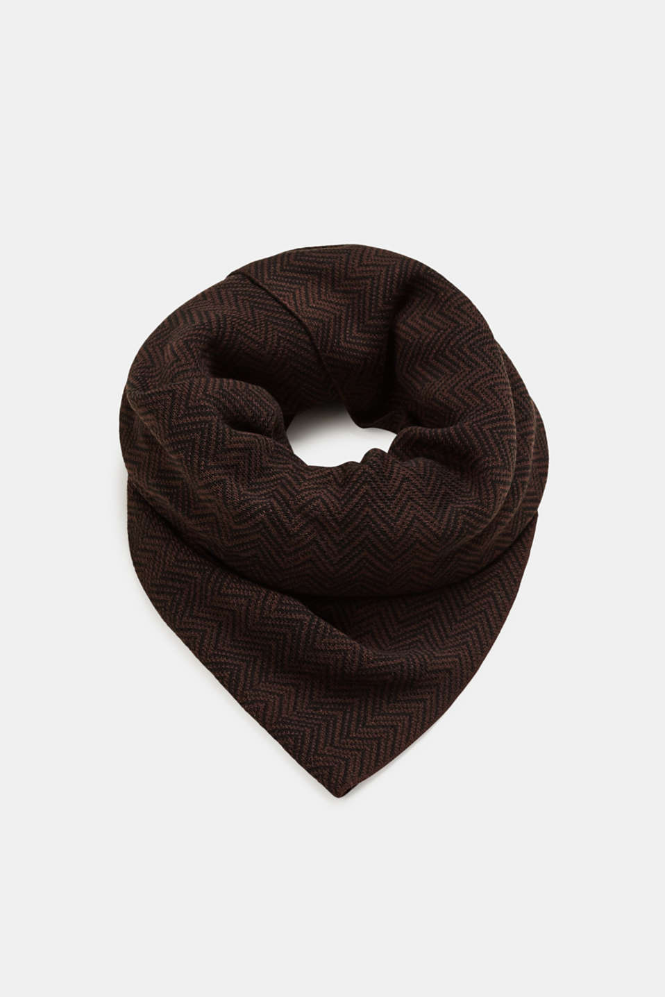 Esprit - Knitted scarf with jacquard pattern