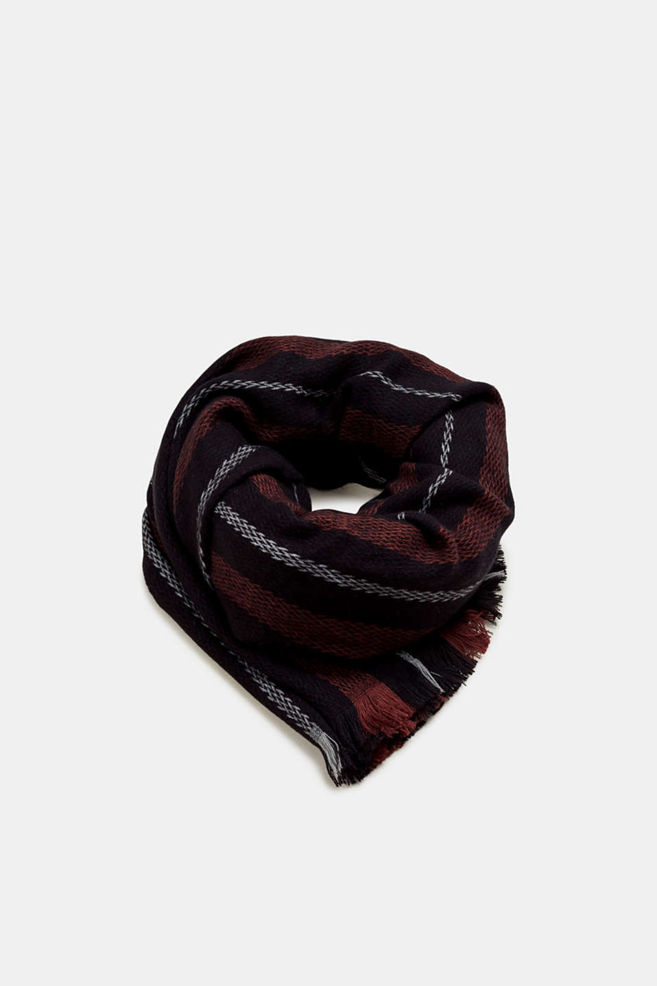 Esprit - Oversized scarf with a woven texture