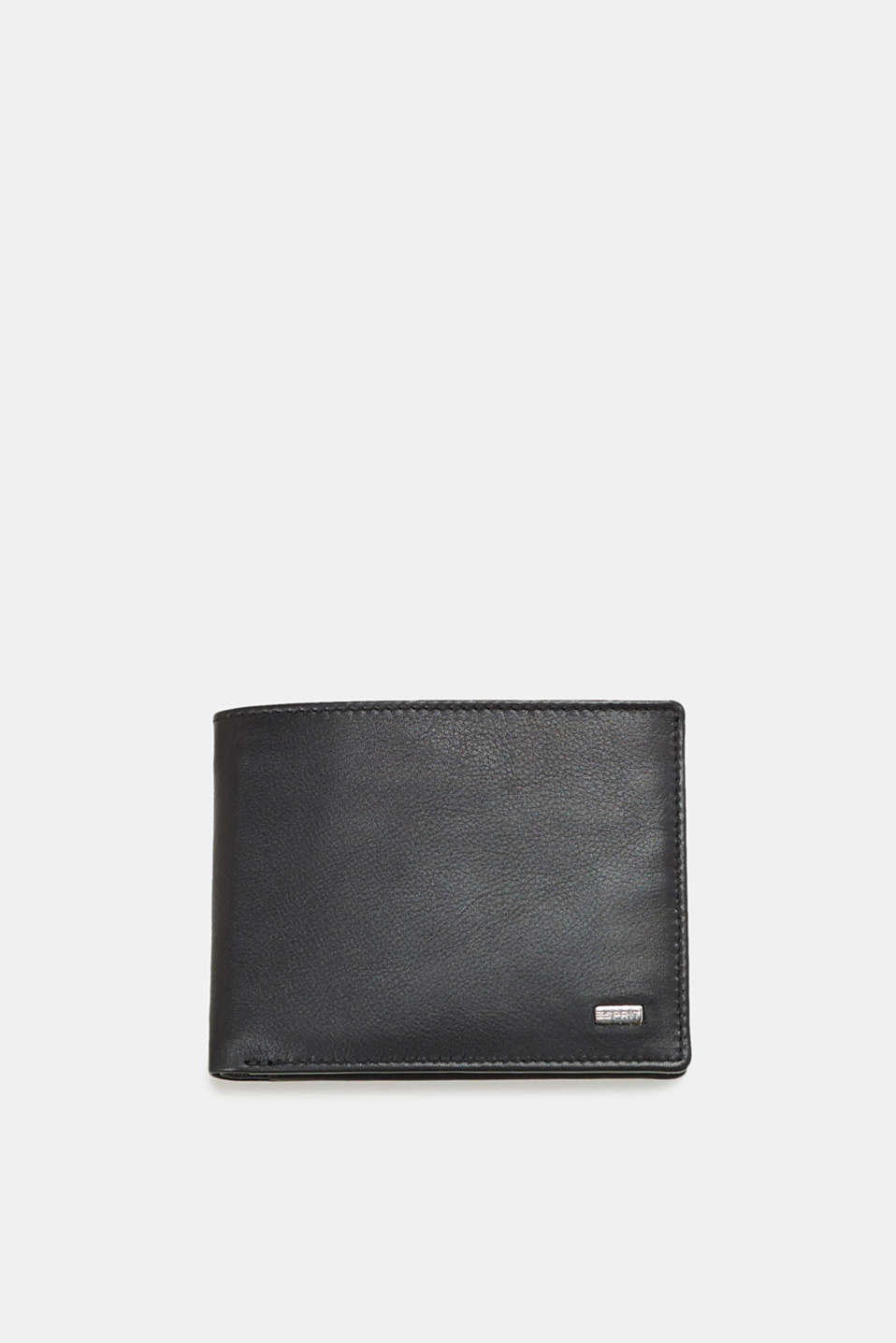 Esprit - Leather wallet in a horizontal format