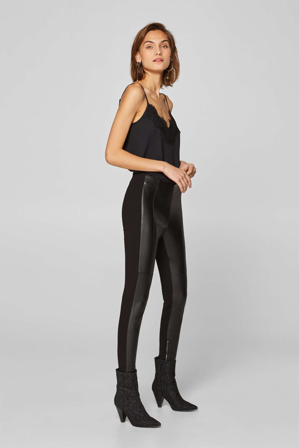 Esprit - Treggings im Material-Mix