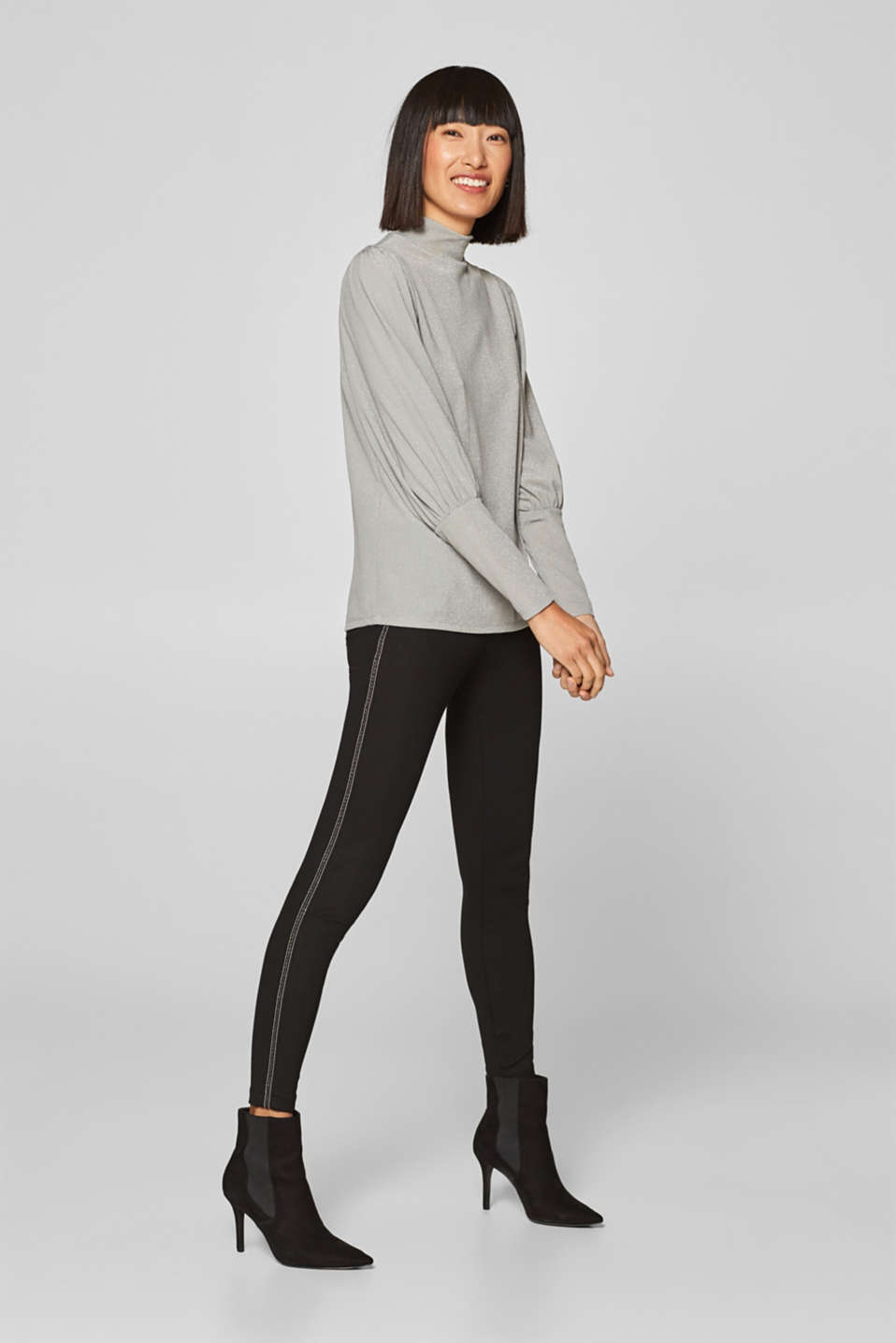 Esprit - Jeggings with decorative racing stripes