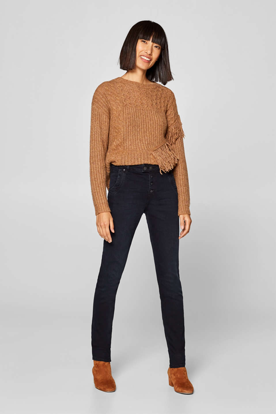 Esprit - Stretch jeans with a button fly