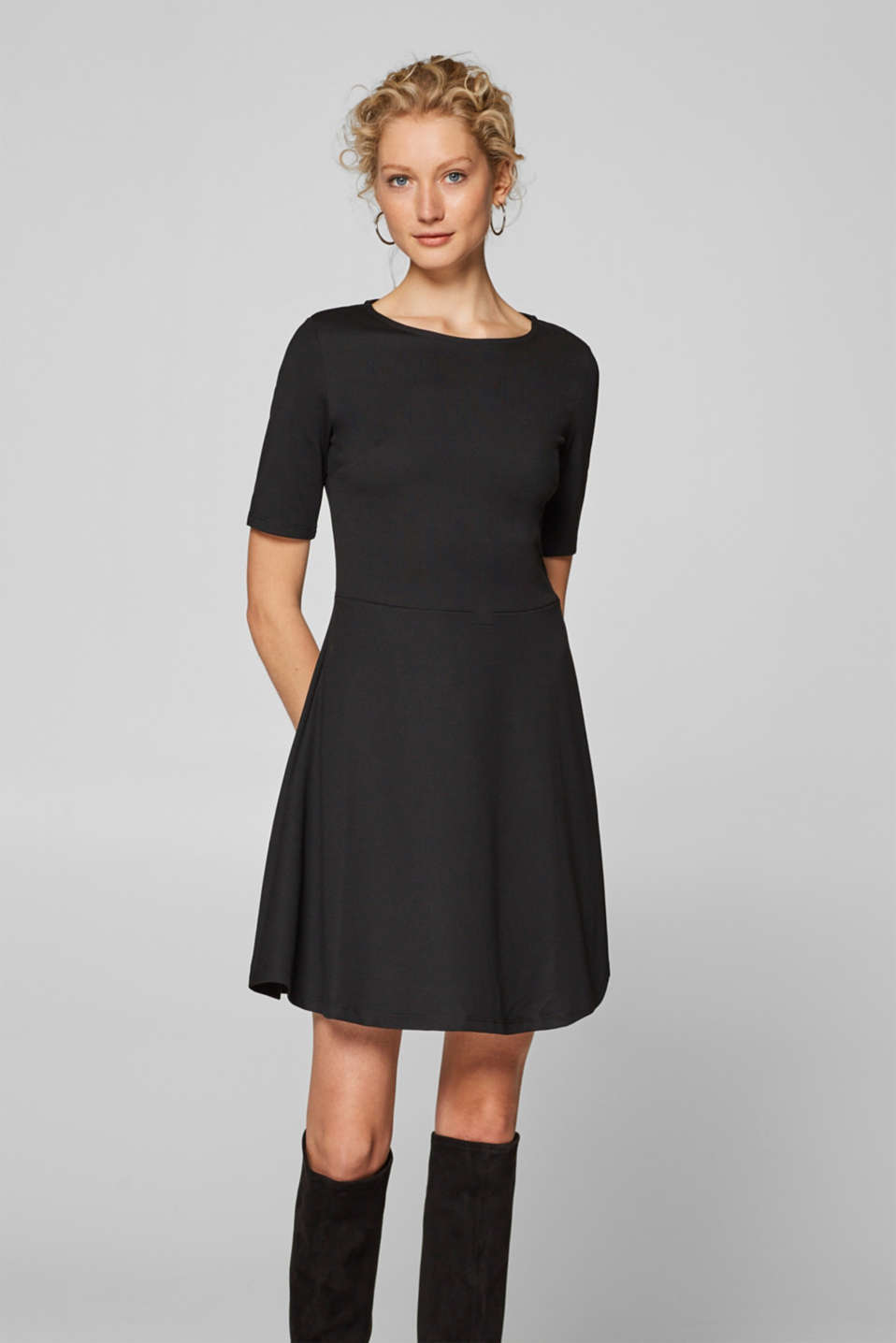 Esprit - Flared stretch shift dress