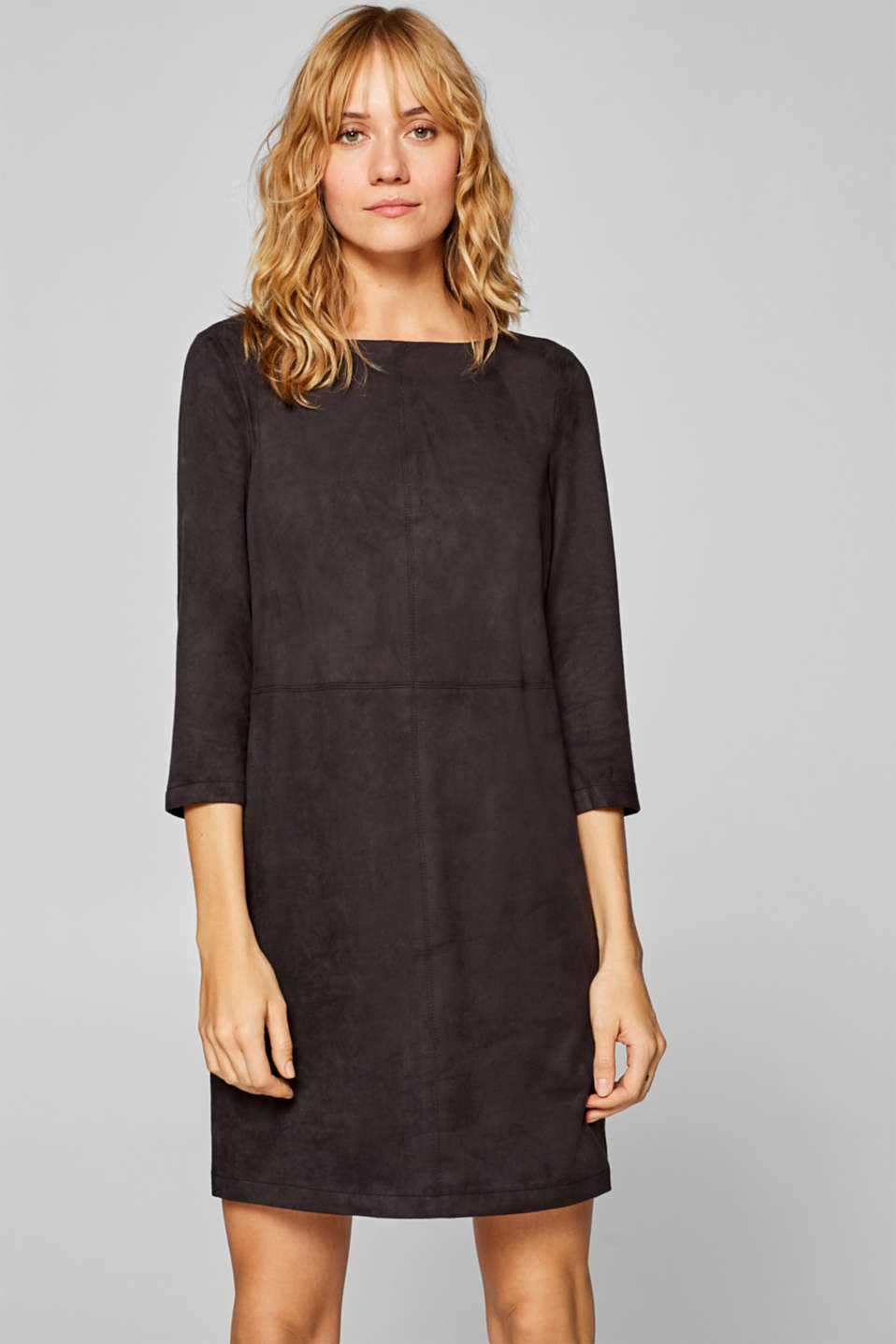 Esprit - Faux suede dress