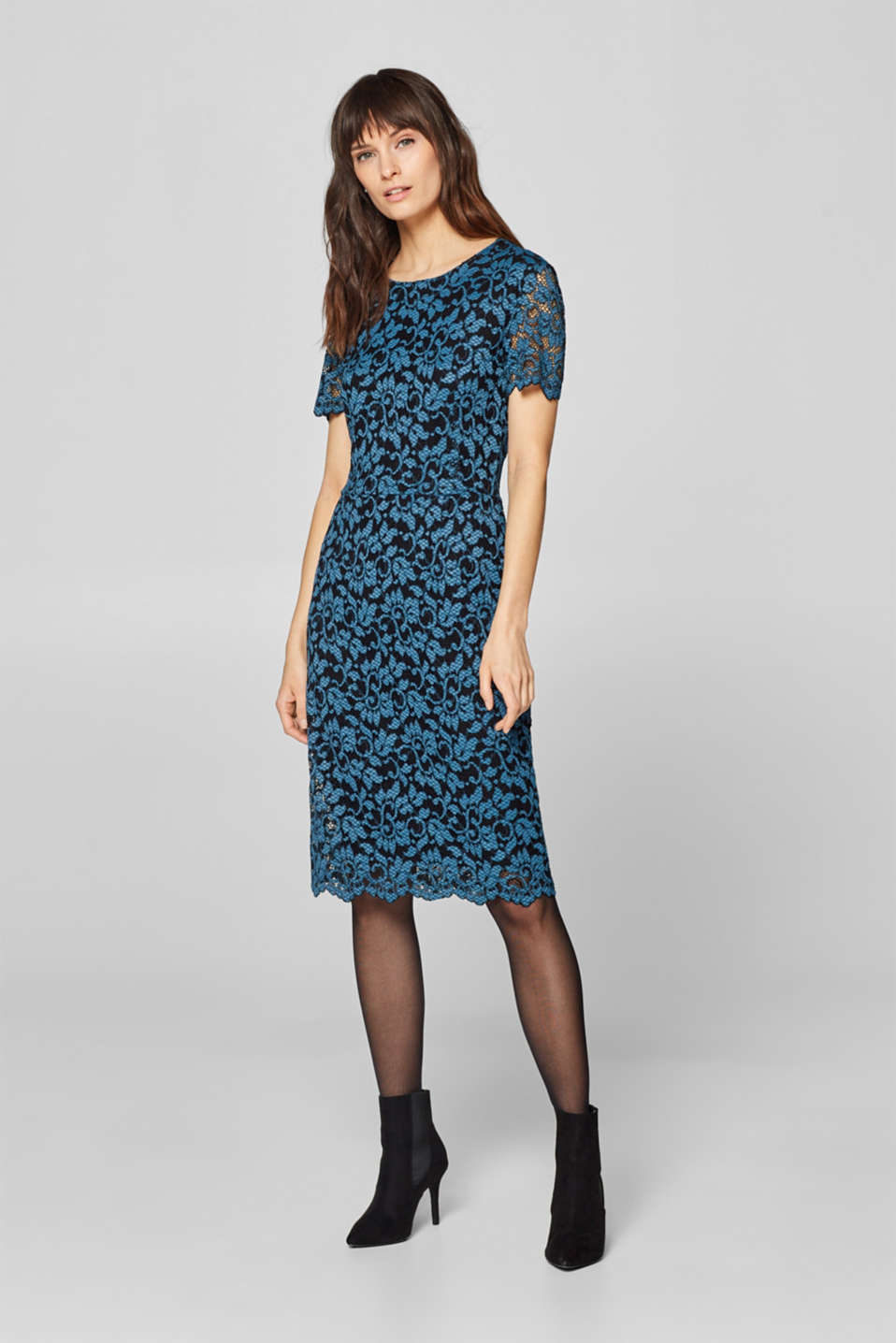 Esprit - Sheath dress with lace