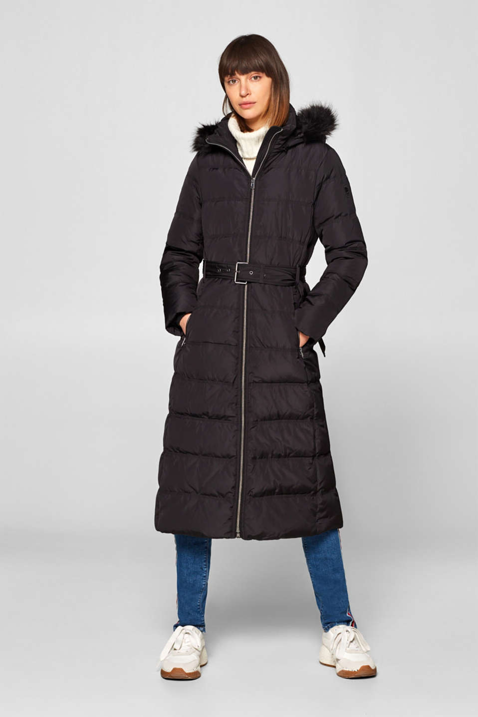 Esprit - Down coat with a hood