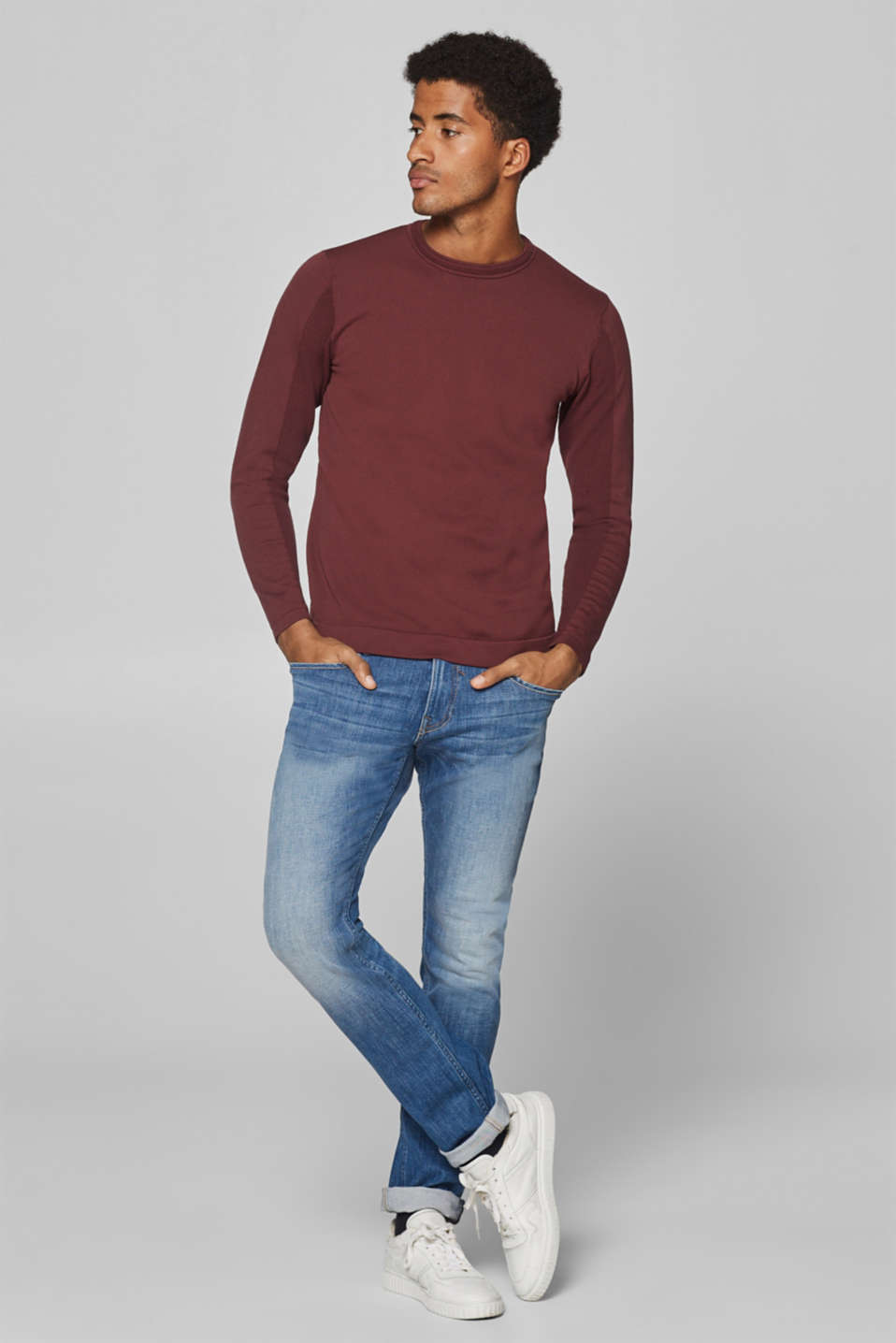 Esprit - Jean super stretch au délavage d'aspect usé