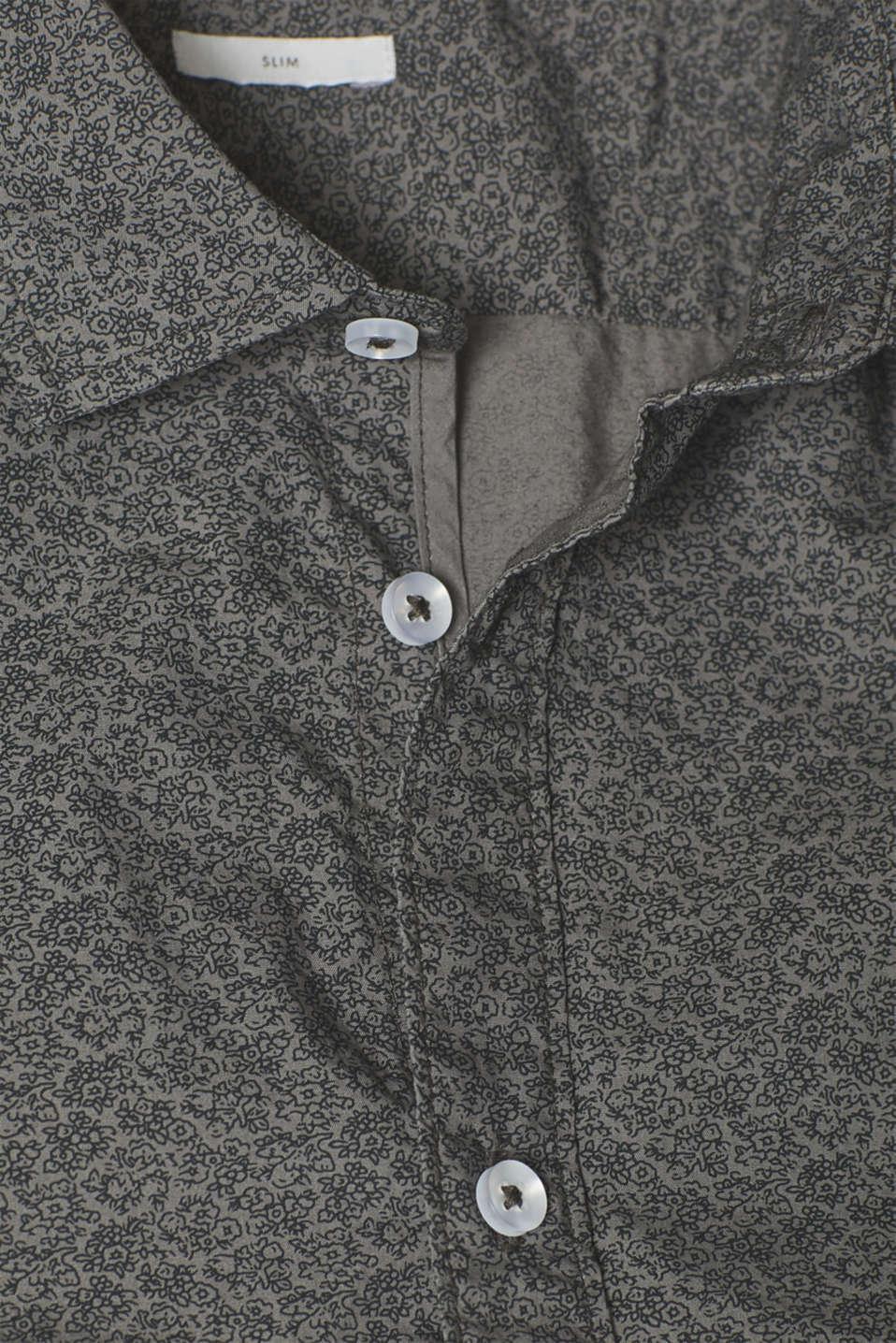 Shirts woven, DARK GREY, detail image number 4