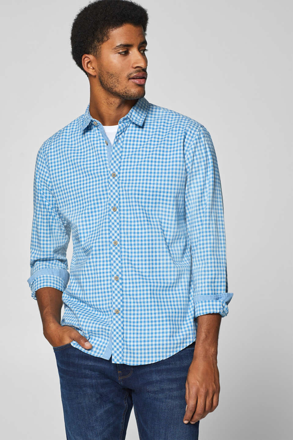 Esprit - Check shirt in 100% cotton