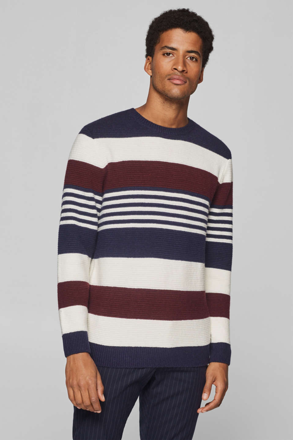Esprit - striped jumper with wool