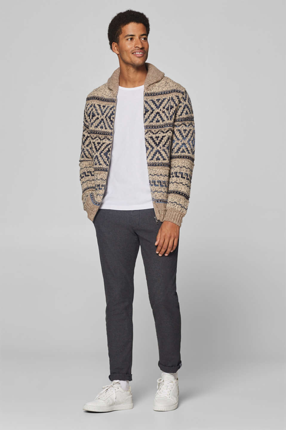 Esprit - With wool: chunky knit cardigan
