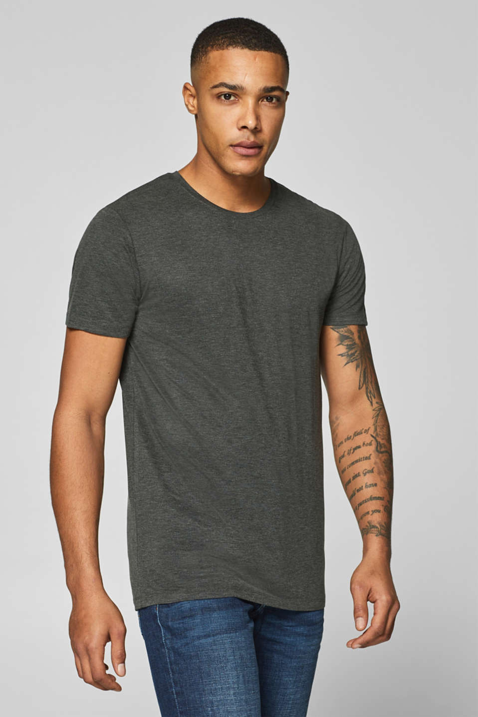 Esprit - KEEP COOL, STAY WARM: T-Shirt aus Jersey