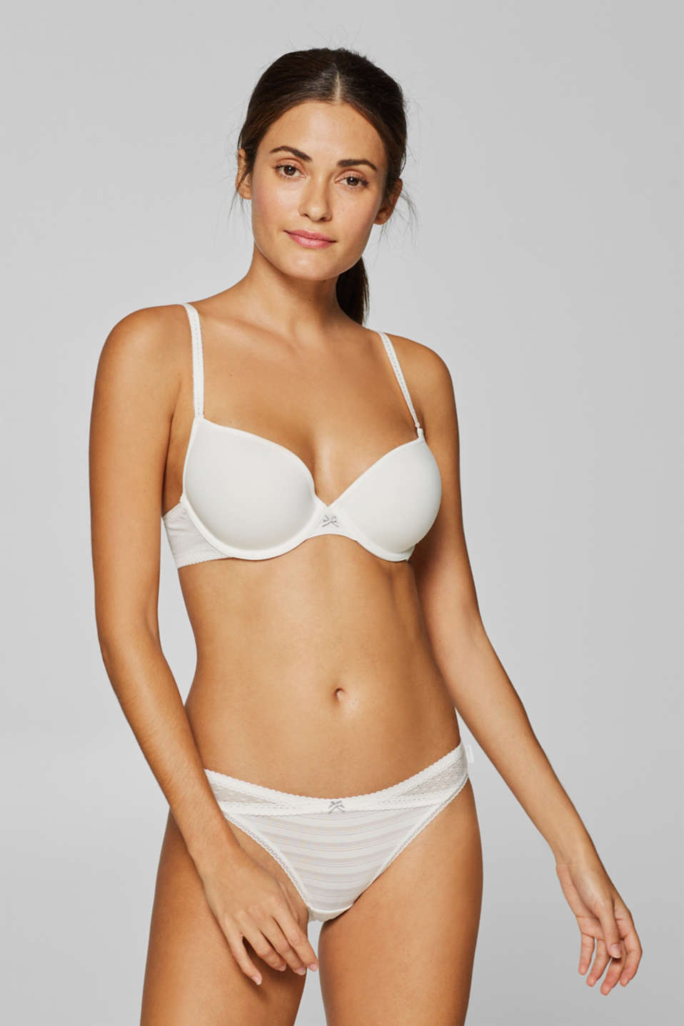 Esprit - Padded underwire bra with embellished straps