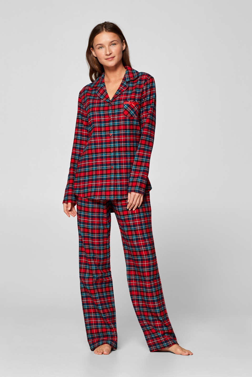 1032a4e7e6 Esprit - Checked flannel pyjamas, 100% cotton at our Online Shop