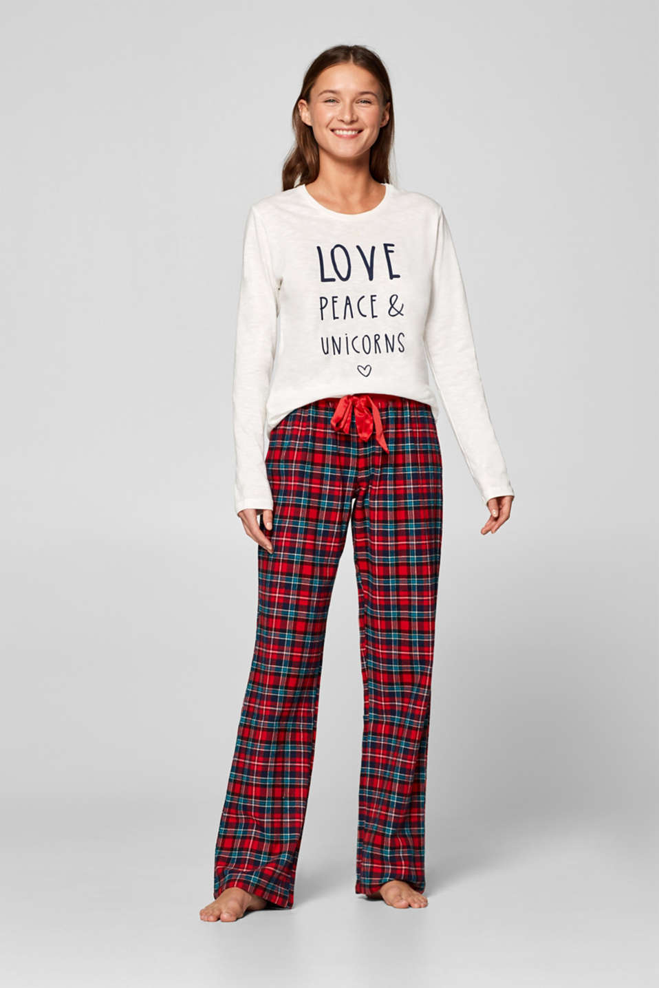 Esprit - Flannel pyjama bottoms in 100% cotton