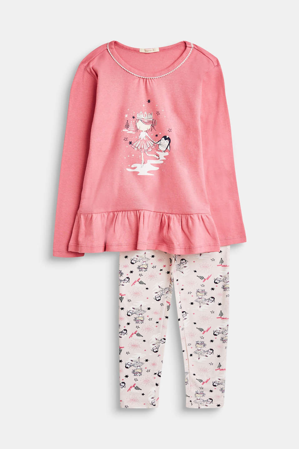 Esprit - Pyjamas with prints and flounces