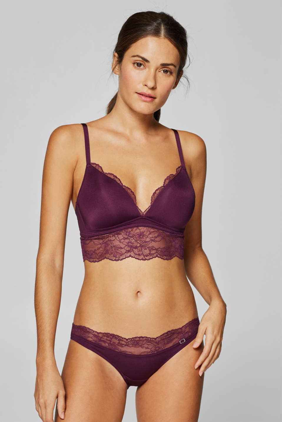Esprit - Padded non-wired bra with variable straps