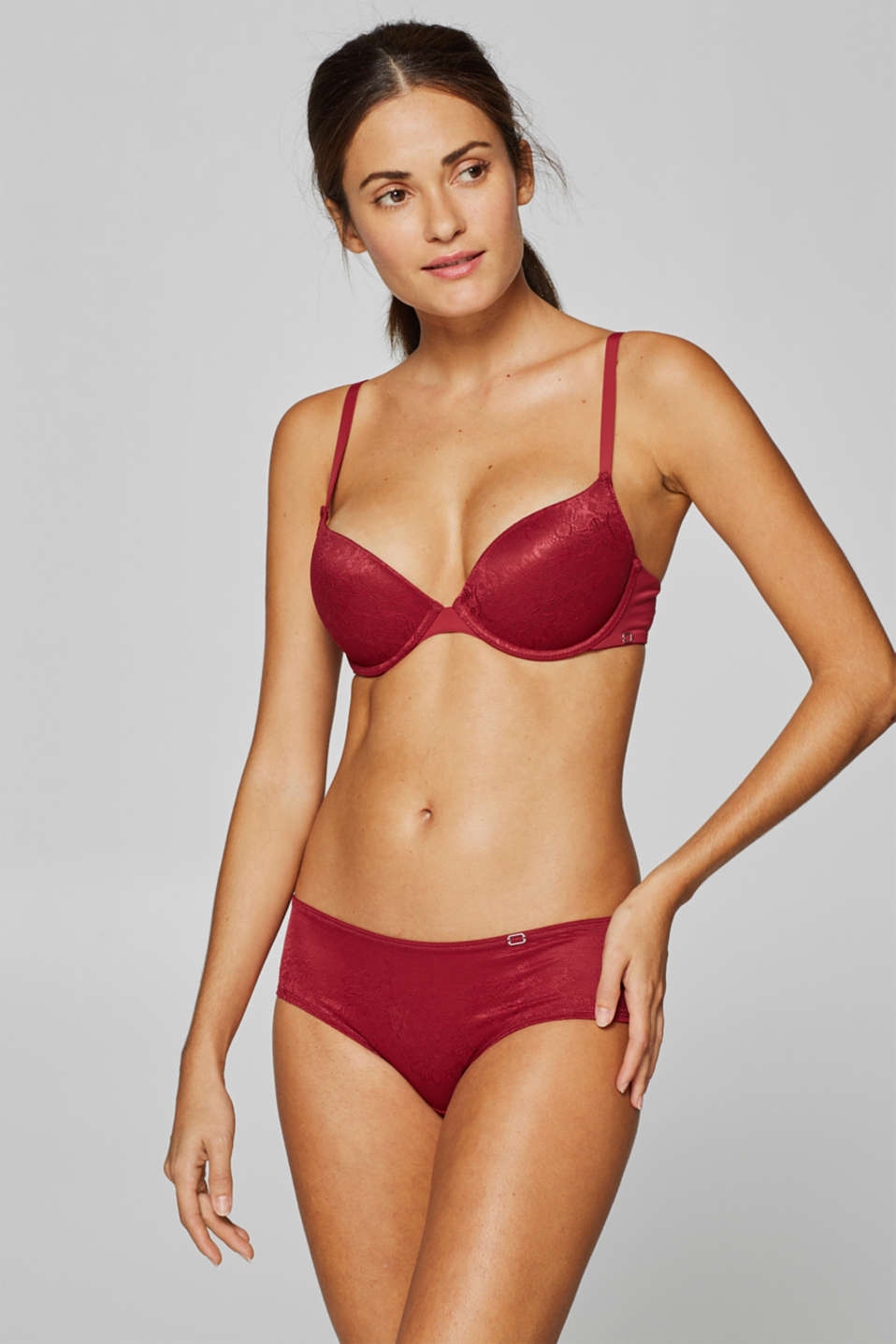 Esprit - NYE padded push-up bra in blended materials