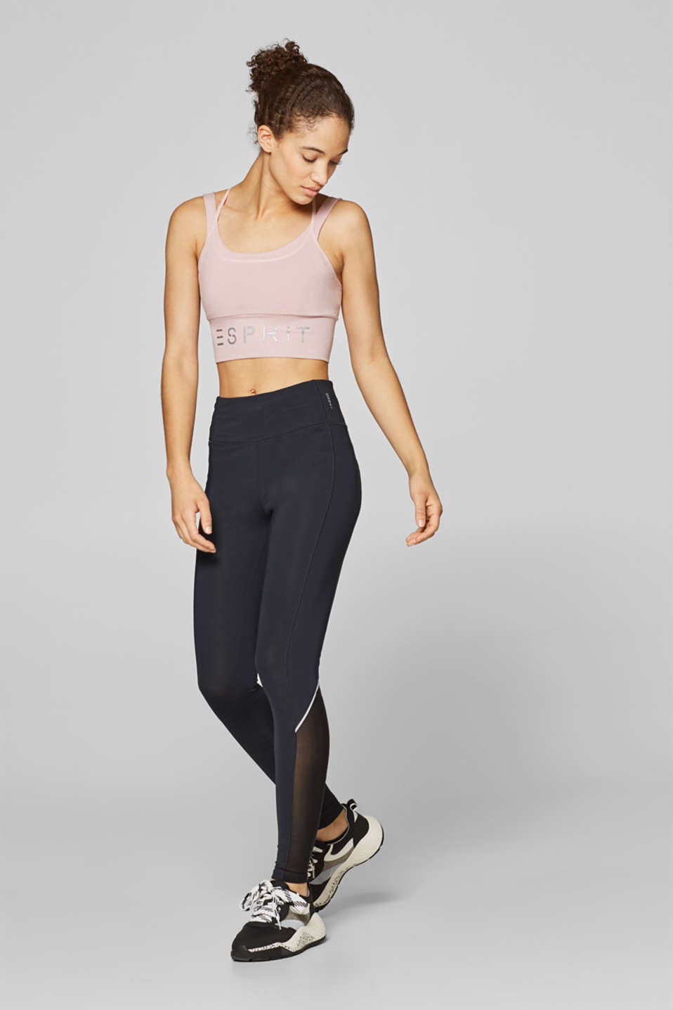 Esprit - Active leggings with mesh inserts, E-DRY