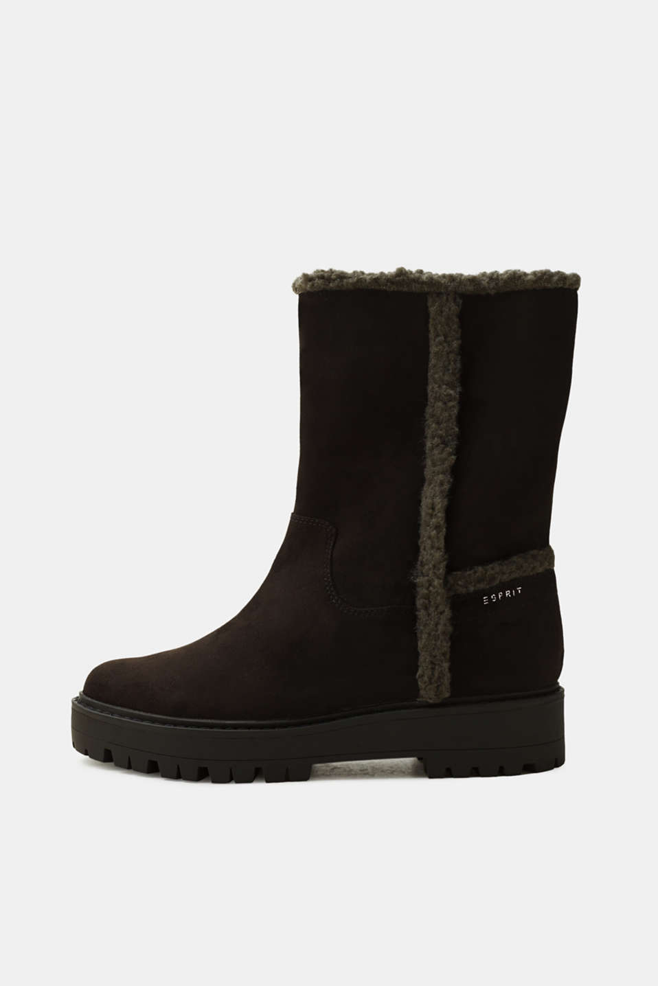Esprit - Lined faux suede winter boots