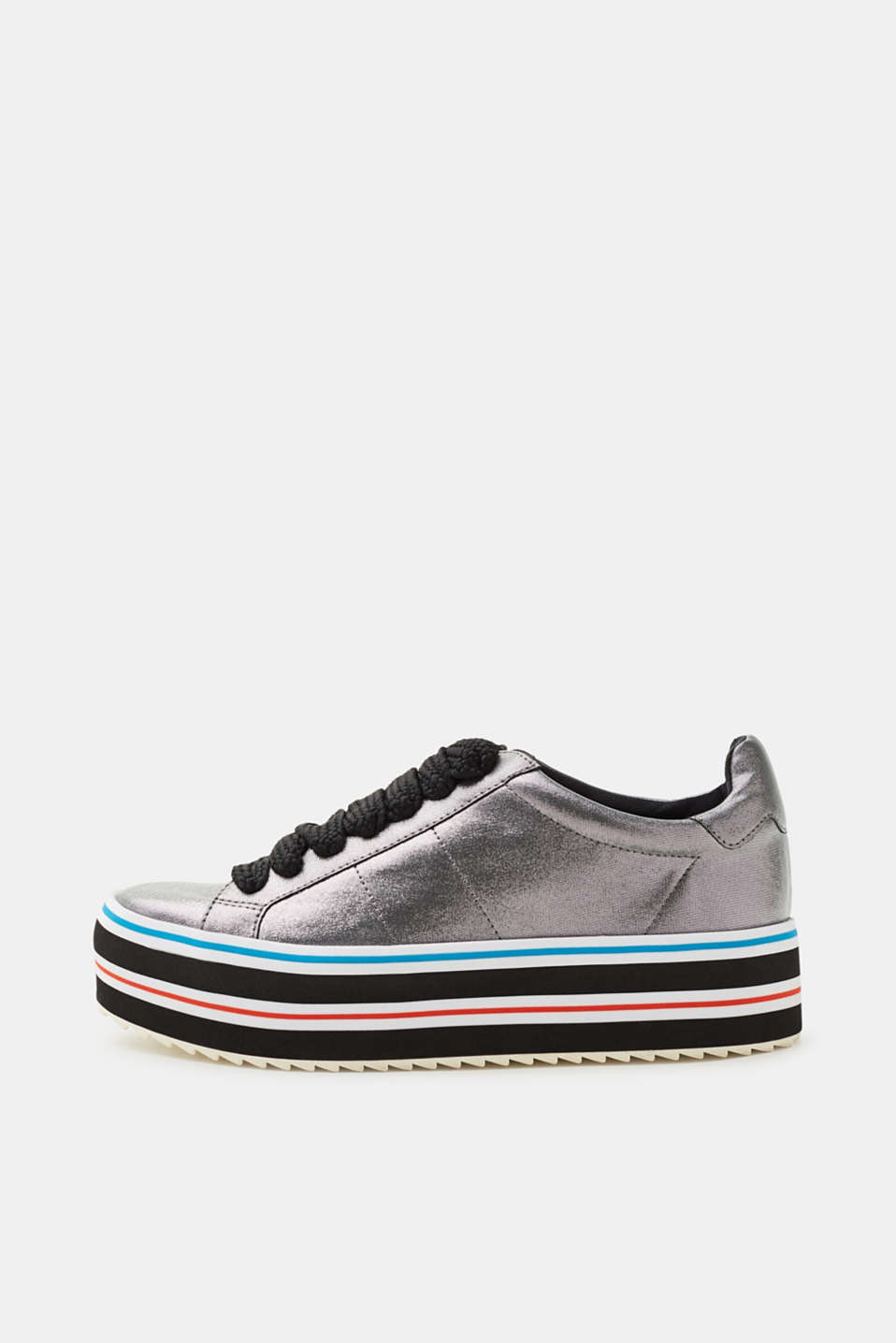 Esprit - Metallic trainers with a platform sole