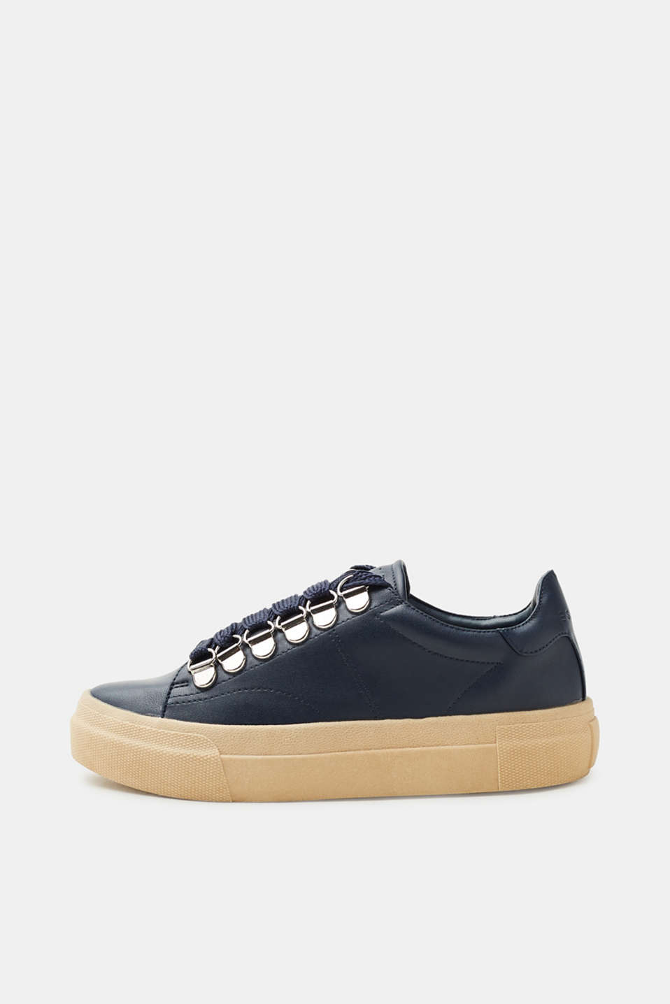 Esprit - Plateau-Sneaker in Leder-Optik