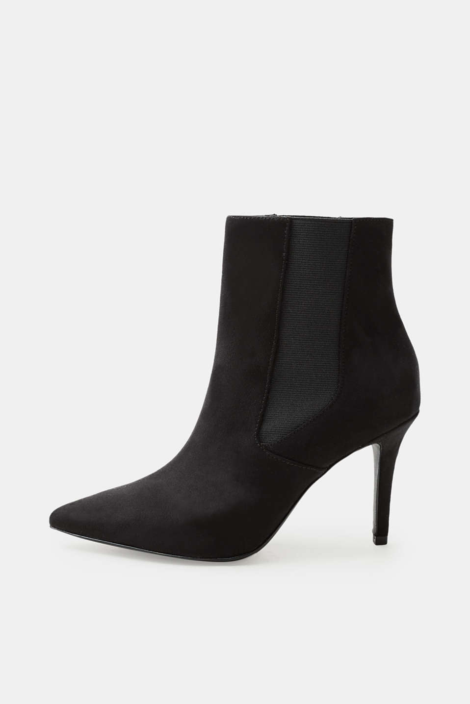 Esprit - Suede ankle boots with a kitten heel
