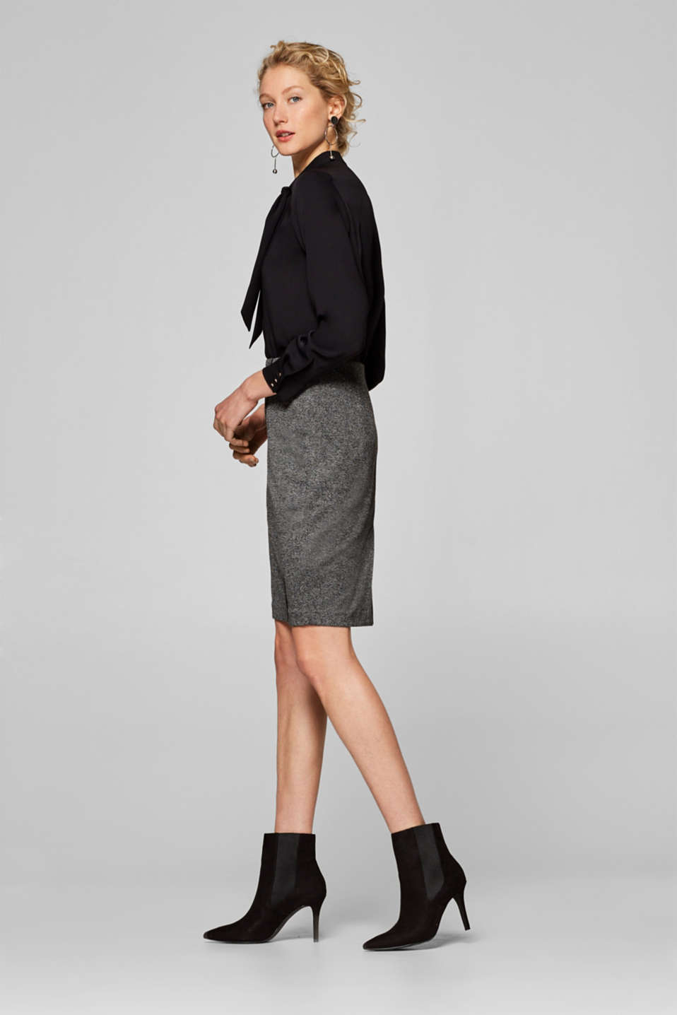Esprit - AUTUMN HERRINGBONE mix + match stretch skirt