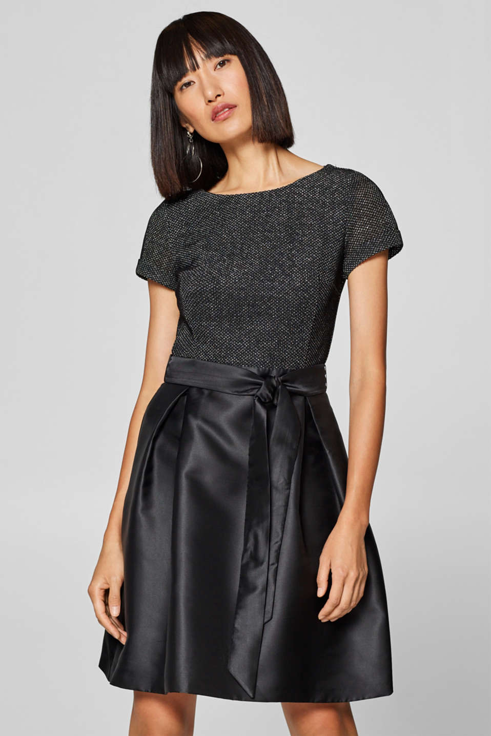Esprit - Dress with glitter top and taffeta skirt
