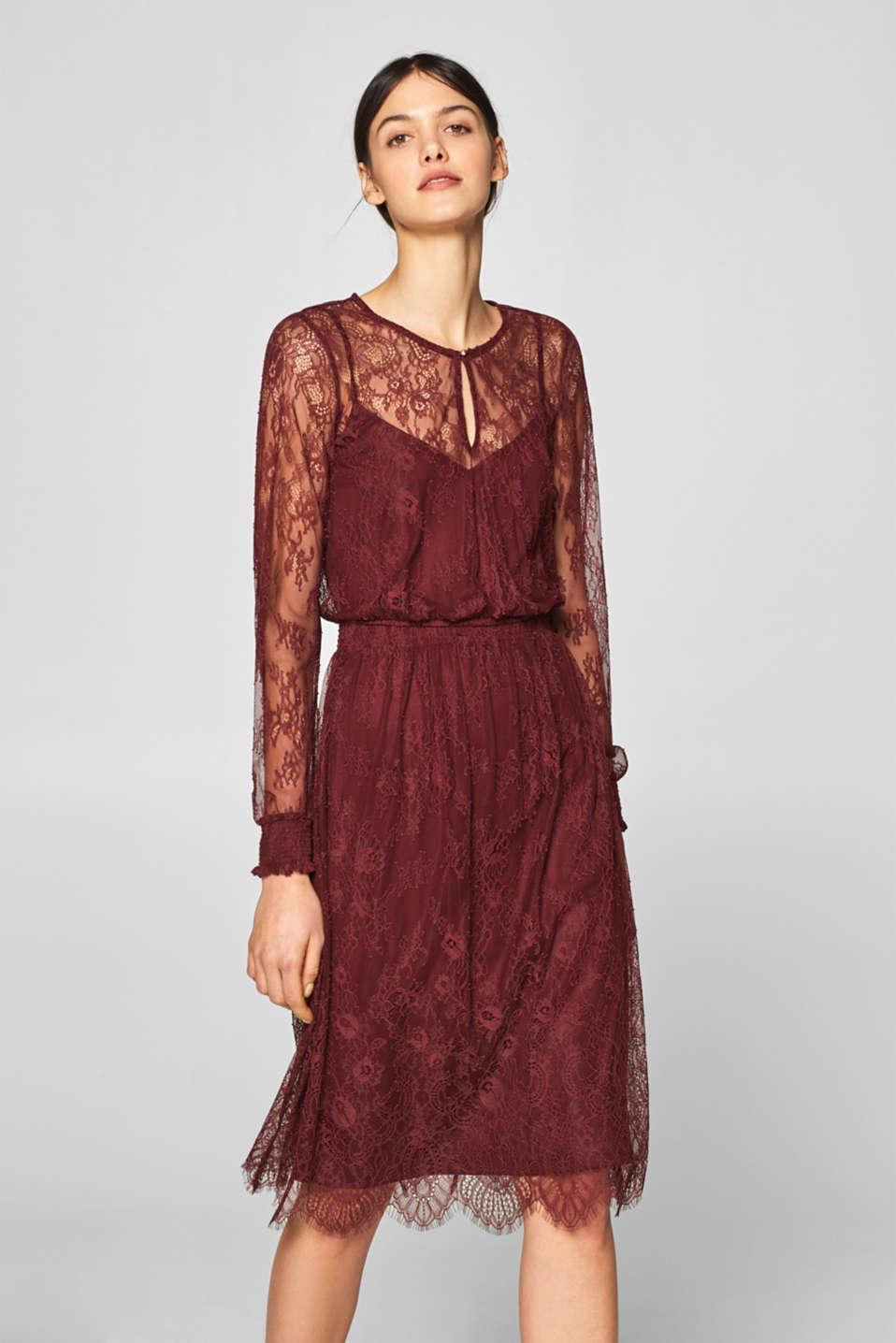 Esprit - Tvådelad spetsklänning. Tvådelad spetsklänning. Esprit - Tvådelad  spetsklänning i Esprits Online-Shop b0ec144822c6c