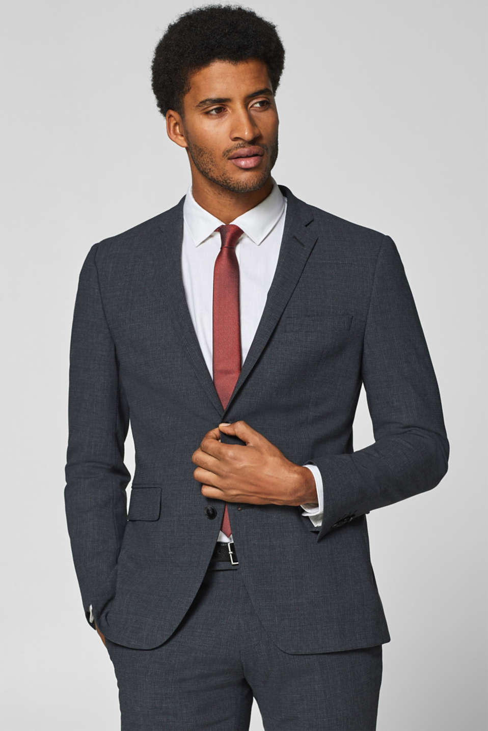 Esprit - ACTIVE SUIT mix + match Blazer med glencheck