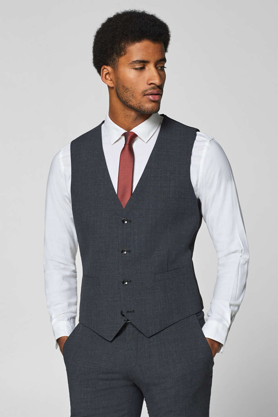 Esprit - ACTIVE SUIT mix + match Prince of Wales check waistcoat